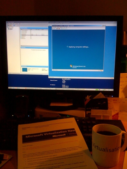 ...drinking from the mug of Virtualisation!