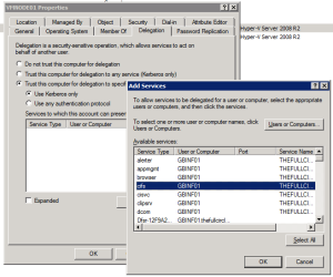 Hyper-V Constrained Delegation